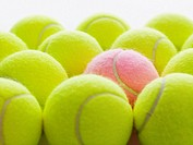 Yellow and Pink Tennis Balls