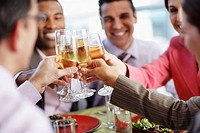 Businesspeople Making a Toast