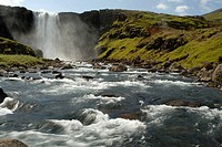 Gufufoss waterfall near Seydisfjordur, East iceland