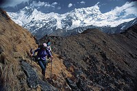 Trekking in the Himalaya Langtang Valley, Nepal
