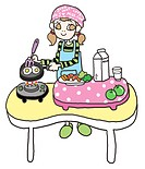 A girl cooking a healthy meal (thumbnail)