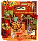 Collage of Mexican and Spanish foods