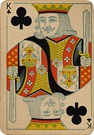 King of Clubs vintage playing card