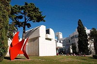 Joan Miró Foundation Sculpture by Alexander Calder, Barcelona Catalonia, Spain