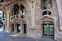 Casa Comalat, Art Noveau building by the architect Salvador Valeri Pupurull 1909-1911, Barcelona, Catalonia, Spain,