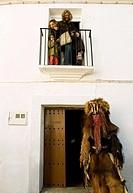 Las Carantoñas festival, Acehuche, Cáceres province, Spain