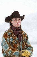 Portrait of a cowgirl, Shell, Wyoming