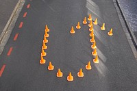 Traffic cones in u_turn formation