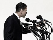 Politician giving speech