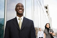 Businessman smiling (thumbnail)