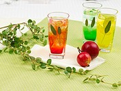 decoration, leaf, food styling, table mat, tablecloth, lemon juice, glass cup