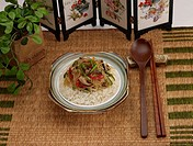 Chinese Cuisine, Food styling, Chinese, dishes, dish, Rice, chop suey over rice (thumbnail)