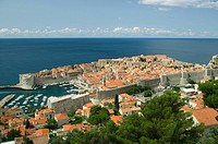 Dubrovnik old town and marina