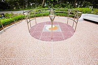 Ying yang symbol in a park, Hollywood Road Park, Hollywood Road, Hong Kong, China