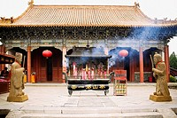 Facade of a temple, Dai Temple, Mt Tai, Tai'an, Shandong Province, China