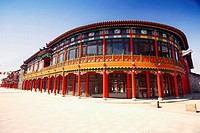 Facade of a building, HohHot, Inner Mongolia, China