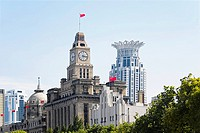 Buildings in a city, The Bund, Shanghai, China