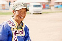 Close_up of a mature man smiling, Inner Mongolia, China