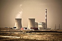 Cooling towers of a nuclear power station, Inner Mongolia, China