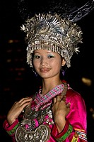 Portrait of a teenage girl smiling, Guilin, Guangxi Province, China