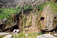 Rocks in a stream, Mt Yuntai, Jiaozuo, Henan Province, China