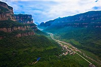 High angle view of a canyon, Taihang Grand Canyon, Linzhou, Henan Province, China