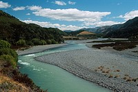 New Zealand _ South Island _ Canterbury _ Lake Sumner Forest Park _ Hope River