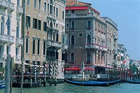 Italy - Venice - The Grand Canal - view on palazzi (thumbnail)