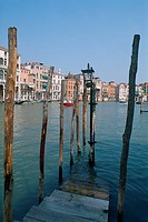 Italy _ Venice _ The Grand Canal _ mooring post