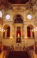 Spain _ Madrid _ Palacio Real _ The grand marble staircase