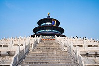 China _ Beijing PÚkin _ Chinese City _ Temple of the Sky Tiantan The Prayer Hall for rich harvest Qiniandian