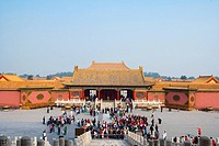 China _ Beijing PÚkin _ Forbidden City _ The Rightness Gate Duanmen _ Court of The Hall of Supreme Harmony Baohe dian and The Palace of Heavenly Purit...