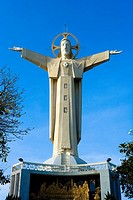 Vietnam - The South - Vung Tau Cape Saint Jacques - The Small mountain - The Giant Christ (thumbnail)