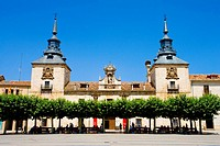 Spain _ Castile and Leon _ Province of Soria _ El Burgo de Osma _ Plaza Mayor