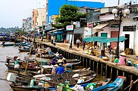 Vietnam _ The South _ The Delta of Mekong _ Can Tho Region _ Phung Hiep Market