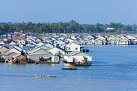 Vietnam _ The South _ The Delta of Mekong _ Chau Doc _ Floating houses