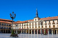 Spain _ Castile and Leon _ Leon _ Plaza Mayor