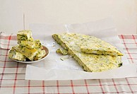 Courgette and sheep´s cheese frittata