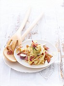 Tagliatelle with onion confit and goat´s cheese