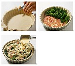 Making broccoli quiche