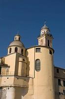santa maria assunta church, camogli, liguria, italy