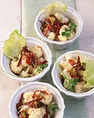 Cauliflower salad with dried tomatoes