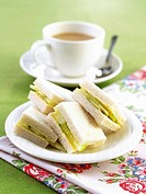 Cucumber sandwiches and a cup of tea