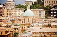 High angle view of a church in a city, Chiesa Di Nostra Signora Del Rimedio, Genoa, Liguria, Italy