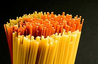 Close_up of spaghettis