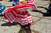 Dancers performing at a wedding ceremony, Oaxaca, Oaxaca State, Mexico