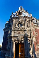Low angle view of a cathedral, Templo Del Pocito, Mexico City, Mexico