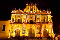 Facade of a cathedral, San Cristobal, San Cristobal De Las Casas, Chiapas, Mexico
