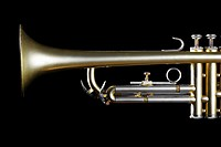 Single trumpet close_up