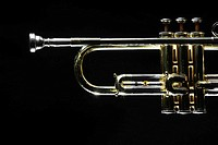 Close_up of trumpet
